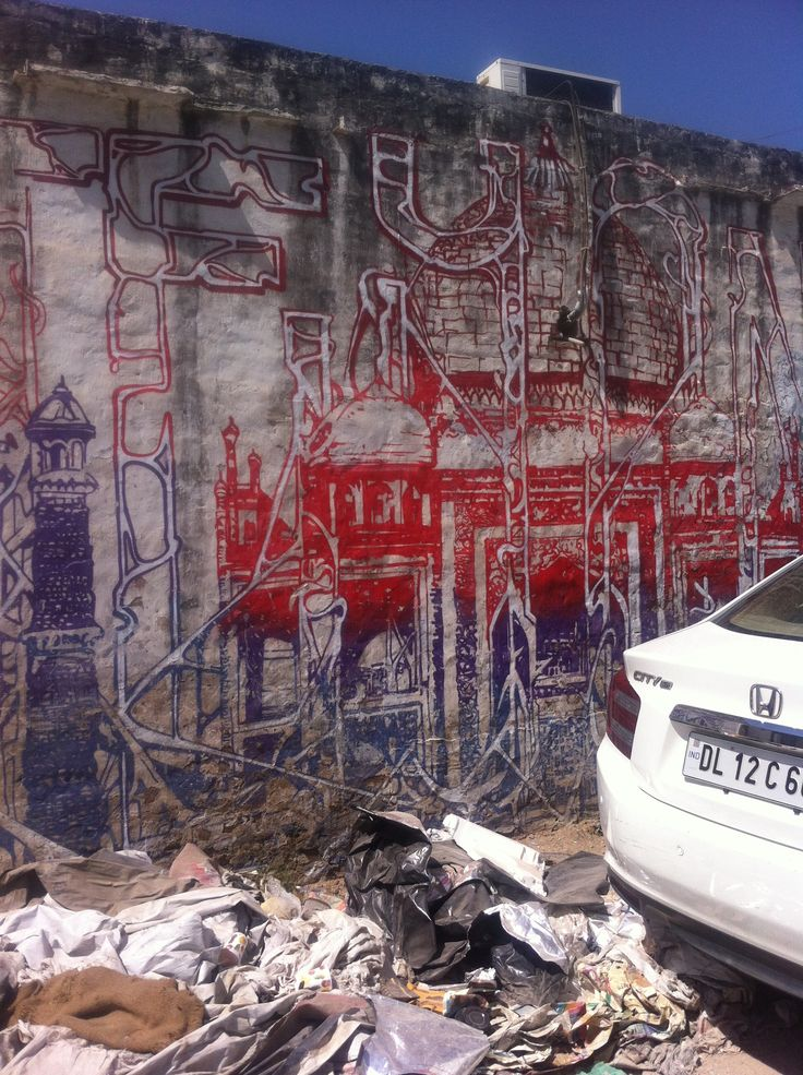 Fantastic street art in Saidulajab (delhi) - becoming a hub for designers....fab creative energy about the place....