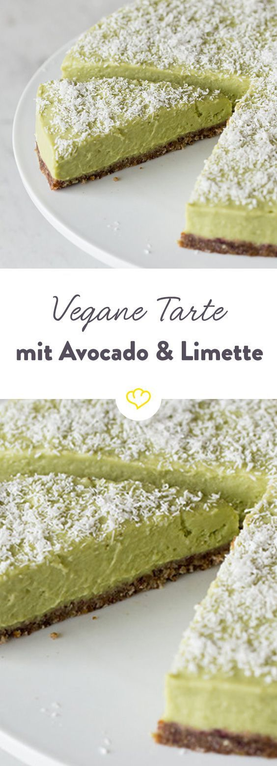 """Bei diesem Rezept lernst du Avocado von ihrer süßen Seite kennen und lieben. Der sommerlich-erfrischende Kuchen wird bequem im Gefrierschrank """"gebacken"""" und ist garantiert der Star bei deinem nächsten(Fitness Recipes Dessert)"""