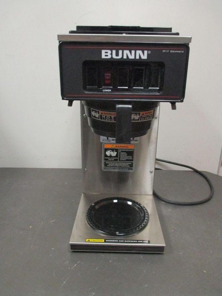 Used Stainless Steel Bunn Vp17 Series Industrial Coffee Maker Brewer Bunn Industrial Coffee Maker Bunn Coffee Brewer