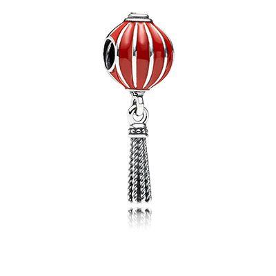 Kinesisk lanterne charm med vedhæng