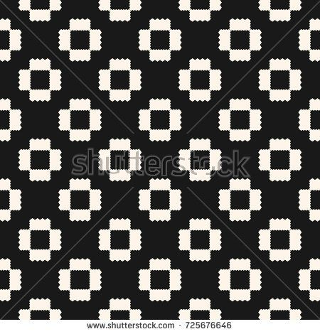 Vector geometric ornament pattern with jagged shapes, repeat tiles. Ornamental ethnic motif. Abstract dark background. Simple monochrome texture. Square design for decoration, textile, carpet, covers
