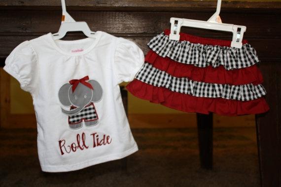cute: Ruffles Skirts, Bama Shirts, Future Children, Cute Ideas, Bama Ruffles, Alabama Football Tailgating, Applique Shirts, Bama Crafts, Baby Girls Ideas