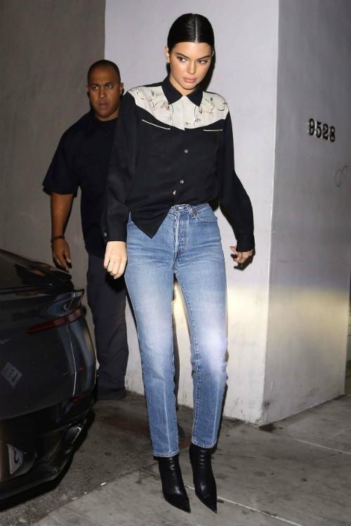Kendall Jenner wearing Balenciaga Knife Boots