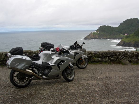 At the overlook for Heceta Head