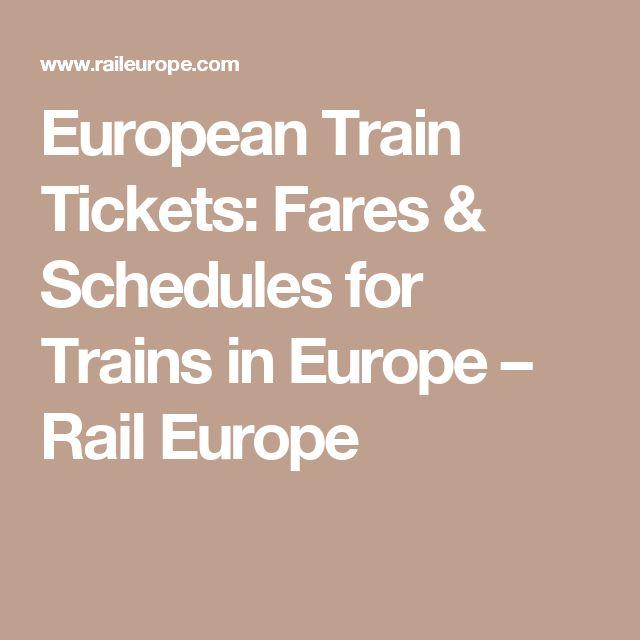 European Train Tickets: Fares & Schedules for Trains in Europe – Rail Europe