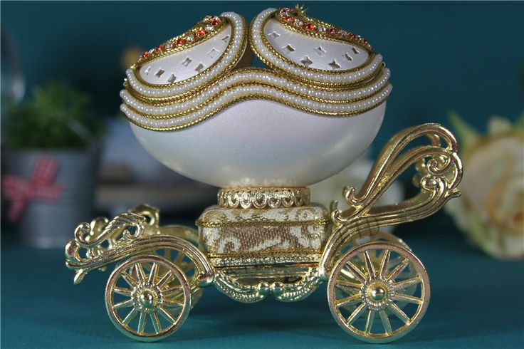 ==> [Free Shipping] Buy Best White Carriage Music Box Royal Style Love Heart Eggshell Creative gift Pearl Jewelry Box Musical box Christmas gift Online with LOWEST Price | 32626345958