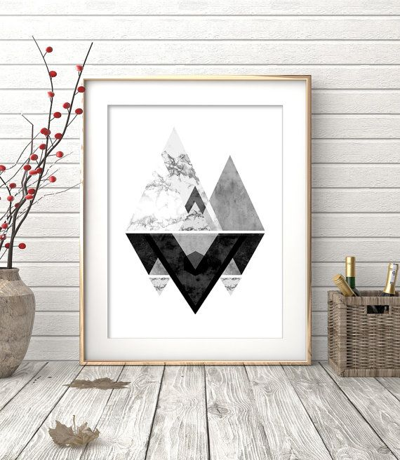 Instant Download Printable Art Wall Art Prints Black by OhFinale