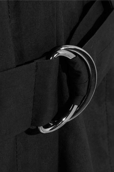 Maison Margiela - Coated Cotton-blend Poplin Jumpsuit - Black - IT38
