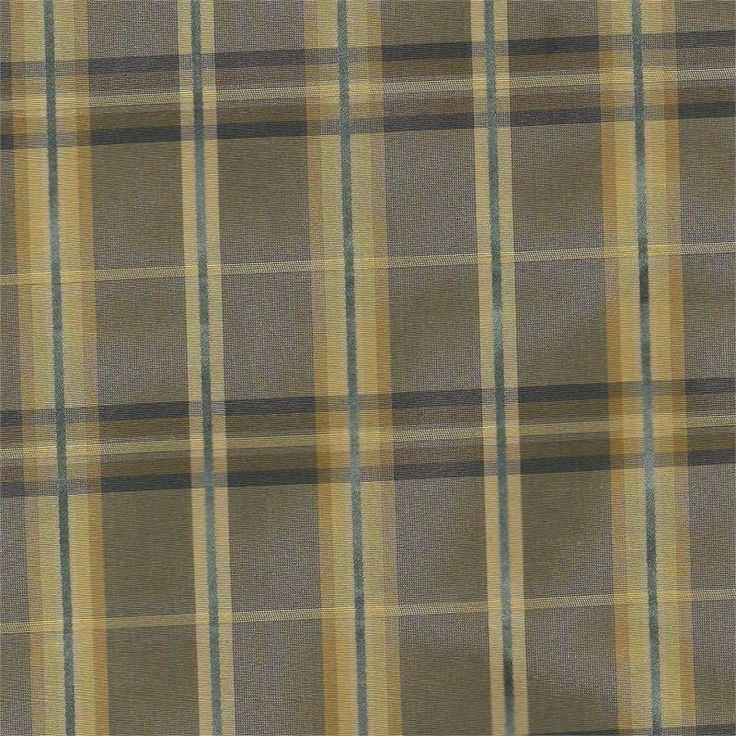 Strafford Abyss Plaid Faux Silk Fabric For Custom Window Treatments,  Valances, Toppers, Curtain