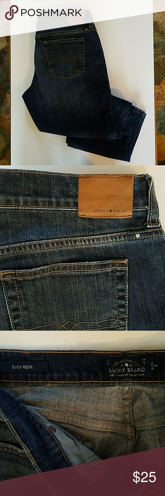 "Lucky Brand Easy Rider Jeans The ultimate weekend jean.  Approx 15.5"" across, 9"" rise, 31"" inseam. Lucky Brand Jeans Boyfriend"