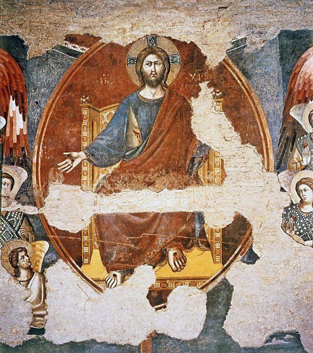 Pietro Cavallini, Last Judgment (fragment), Santa Cecilia in Trastevere, ca. 1290; Detail of  Christ