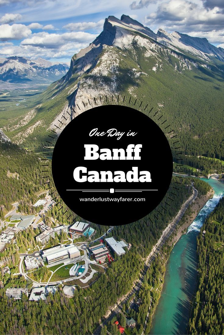 Spend a perfect day roaming the streets of Banff, Canada.