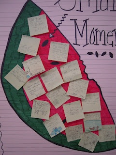 """Totally Terrific in Texas: Small Moments - Take a large """"watermelon topic"""" and pull out the small moment """"seeds"""". Great idea to show zooming into a smaller moment.Ideas, Small Moments, Totally Terrific, Languages Art, Writing, Grade, Reading Writting, Anchors Charts, Writers Workshop"""