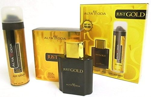 Alta Moda Just Gold Men's EDT and Deodorant Valentines Gift Set for Him 100ml EDT   150ml Deodorant