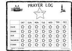 Islamic Prayer Log - Salah Log For Kids