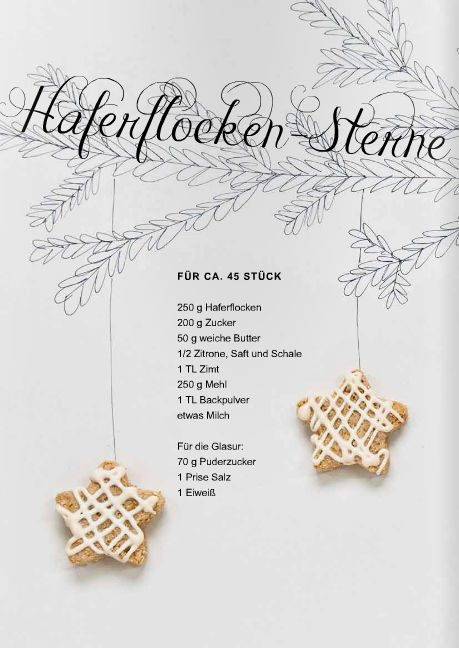 look cute and love the recipe language - - - haferflockensterne
