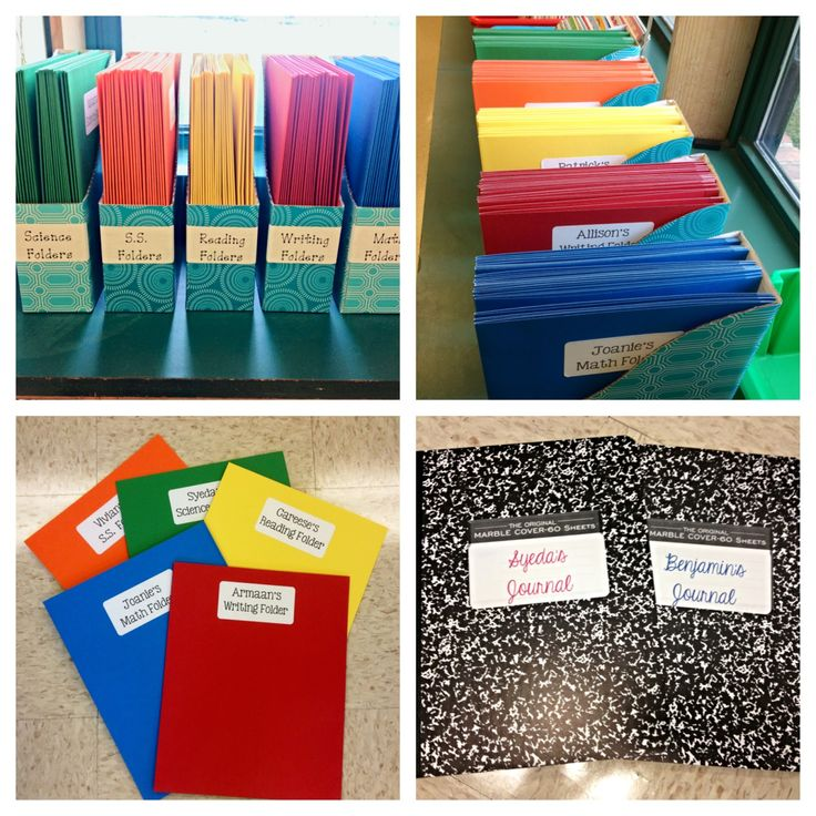 folders and journals for writing workshop