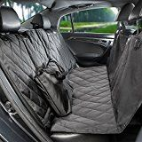 Pauraque Pet Car Seat Cover  for Cars Trucks and SuvsDog Car Seat Cover Hammock ConvertibleBlack WaterProof & NonSlip Backing