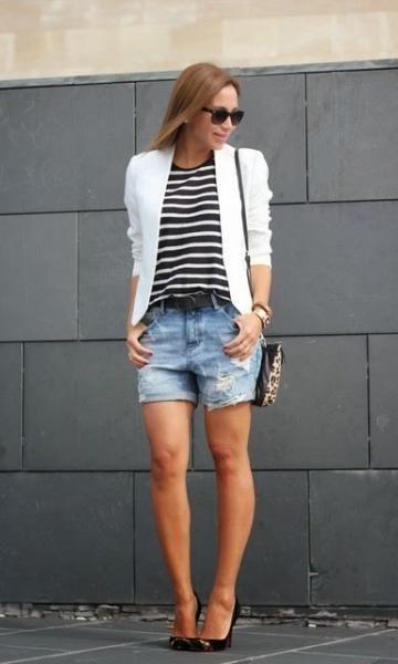 Look Blazer e Listras - Moda it | Moda It