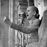 Eva Peron was born on May 7, 1919.  The widowed Peron married her in 1945, and they became a team in power ruling Argentina until her death from cancer in 1952. She lived in style and had a fierce mission: to be the savior of the poor. She got the women the vote, won benefits for workers, founded schools, orphanages and hospitals. She became an icon rivaling the Virgin Mary. When she died of cancer, the 33-year old Evita was adored as a saint by working-class Argentines.