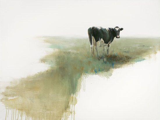 Sold | Margje I the Cow, oil/canvas 24 x 32 inch (60 x 80 cm) © 2008 Klimas