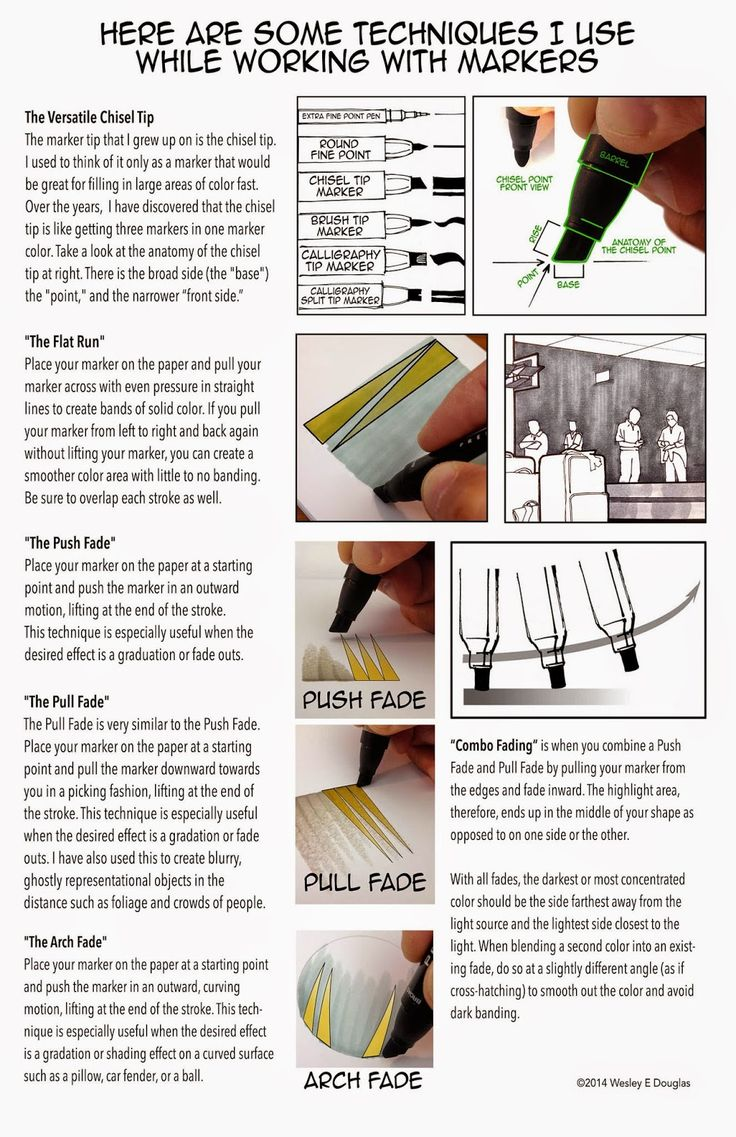 Some tips on using markers for on-location sketching. #wesleyedouglas #Tuesday Tips&Tricks #uskchicago2014