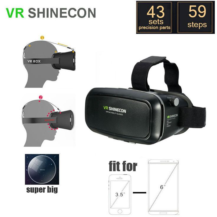 3D VR Shinecon Video Glasses Virtual Reality For iPhone 6S Plus 6Plus Samsung HTC Smartphone Sale - Banggood.com