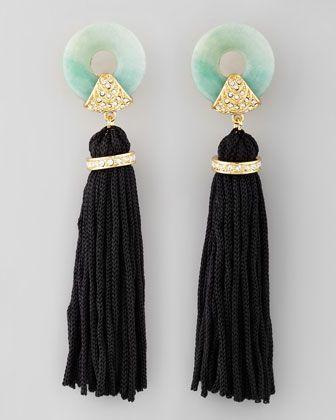 Amazonite Tassel Earrings by Rachel Zoe at Neiman Marcus.
