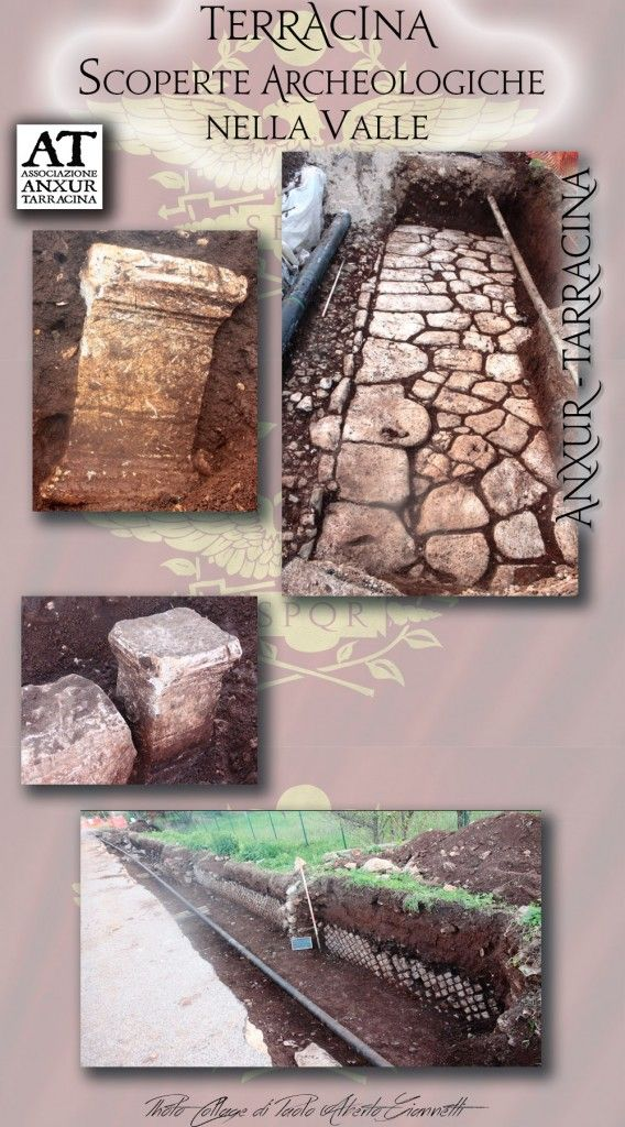 Scoperte archeologiche nella Valle di Terracina .... Archaeological discoveries in the valley of Terracina