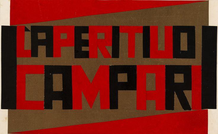 L'aperitivo Campari. Progetto per vassoio, Fortunato Depero, 1926-27, courtesy MART - Museo d'Arte Moderna e Contemporanea di Trento e Rovereto / Un autore. Fortunato Depero / Dall'Autarchia all'Autonomia.