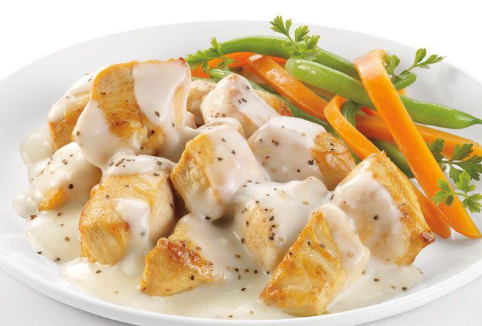 Pollo en salsa blanca Philadelphia