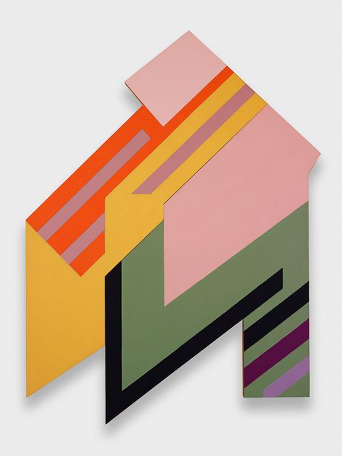 Frank Stella, Brzozdowce I, 1973 (SIMPLE SHAPES, COLOR CHOICE, PATTERN)