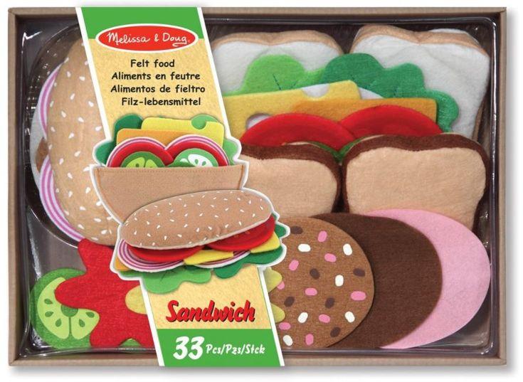 Melissa & Doug Felt Food Sandwich Play Food Set (33 pcs) (affiliate link)