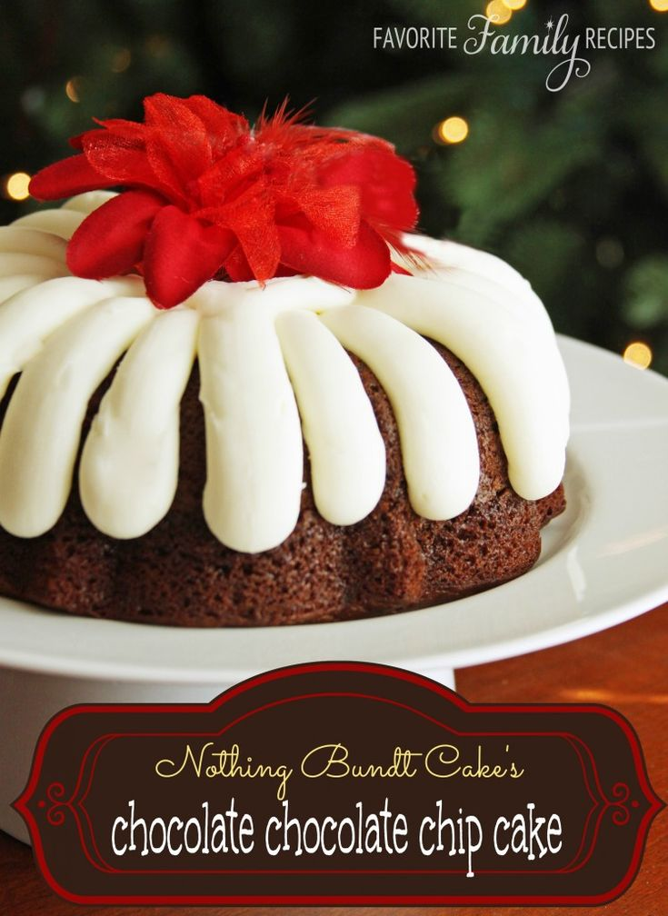 Nothing Bundt Cakes' Chocolate Chocolate Chip Cake -- this is my favorite chocolate cake recipe hands down! from FavFamilyRecipes.com