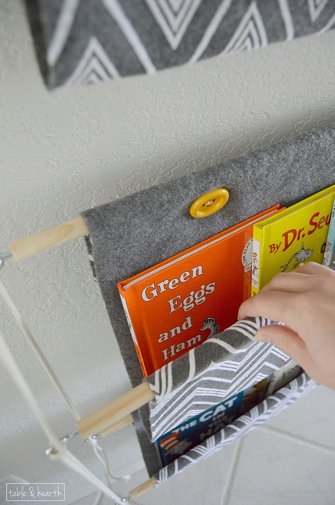 Hometalk | Kid-friendly, Space-saving, No-sew DIY Children's Book Storage