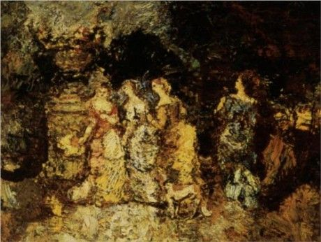 Gallant Party by Adolphe Joseph Thomas Monticelli