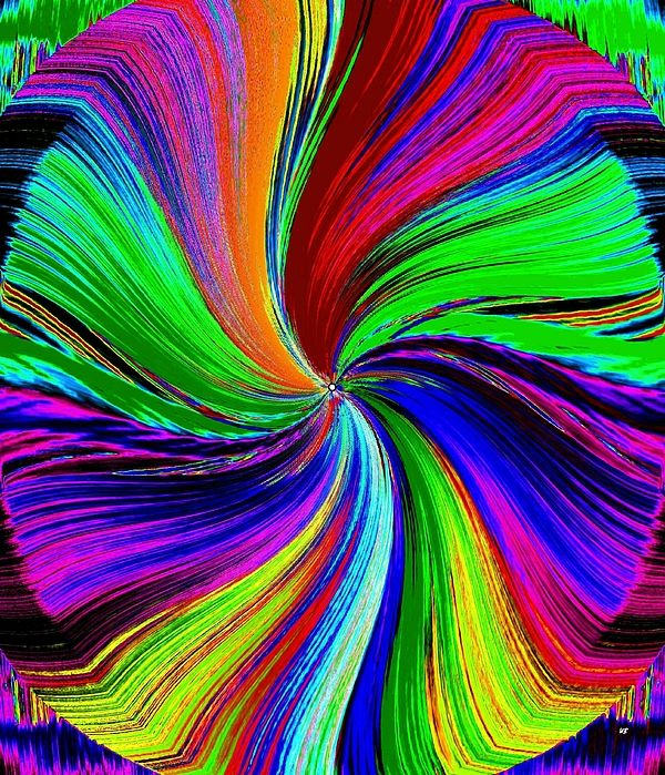 A very colorful and exhilarating piece of abstract art to capture the eye and stir the mind.