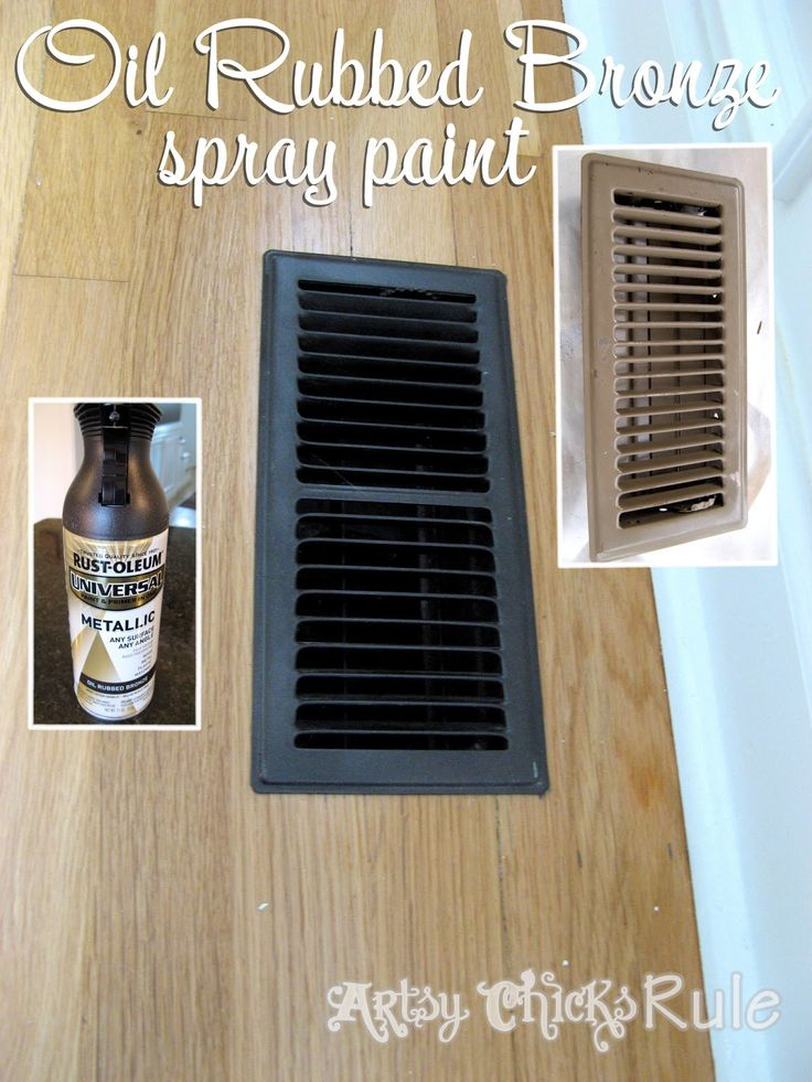 use rustoleum 39 s oil rubbed bronze spray paint on old vents. Black Bedroom Furniture Sets. Home Design Ideas