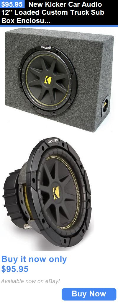 Car Subwoofers: New Kicker Car Audio 12 Loaded Custom Truck Sub Box Enclosure W/ C12 Subwoofer BUY IT NOW ONLY: $95.95