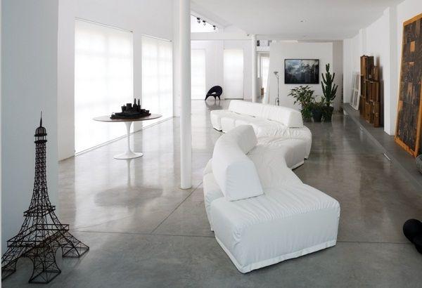 Italian designer furniture couch sofa modern white living room change