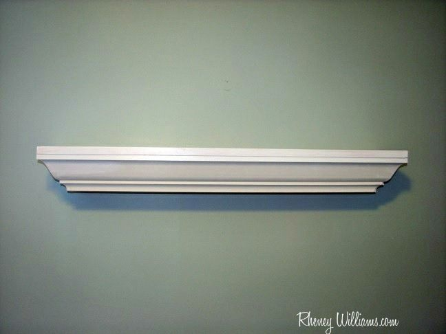 How To Make A Crown Moulding Shelf For Your Nursery