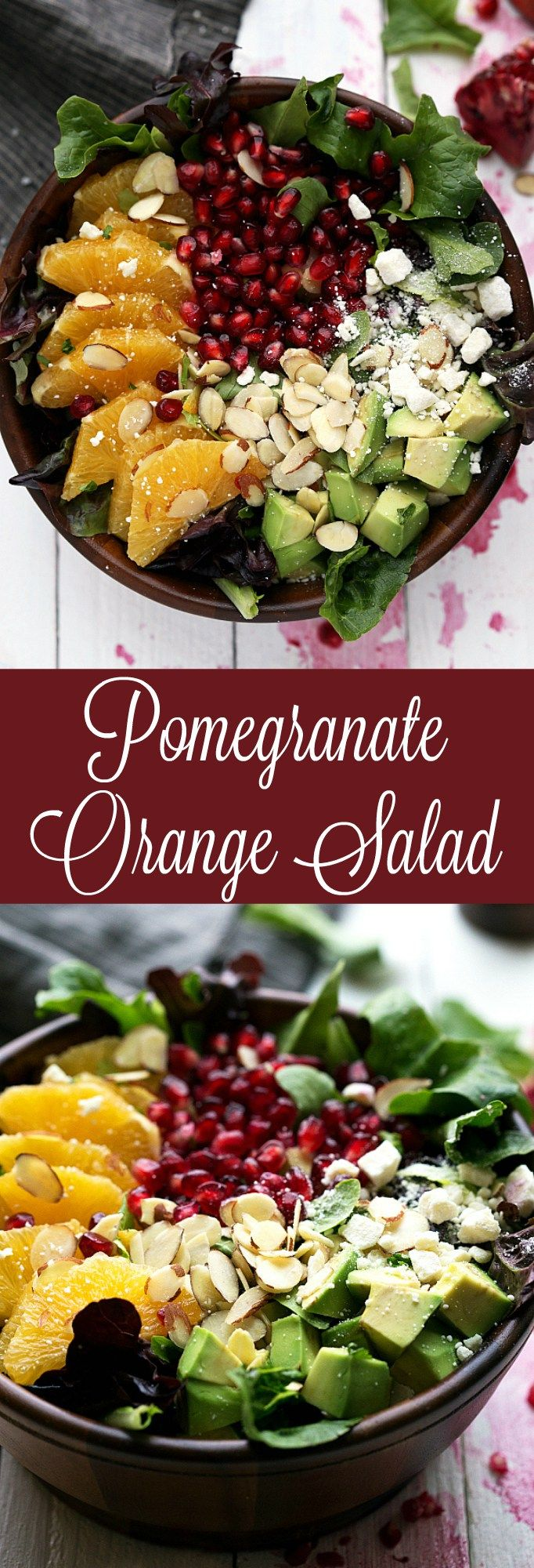 Pomegranate and Orange Christmas Salad