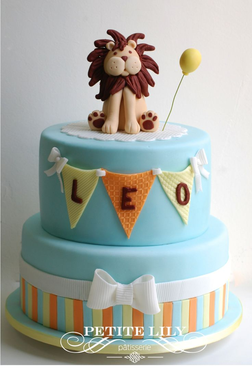 Baby shower lion cake / Bolo de leão para chá de bebê