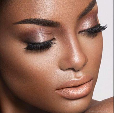 Super bridal makeup natural looks eyebrows 48+ ideas   Dark skin makeup, Bridal makeup natural, Makeup for black women