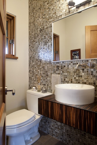 Powder contemporary powder room powder room pinterest - Powder room tile ideas ...