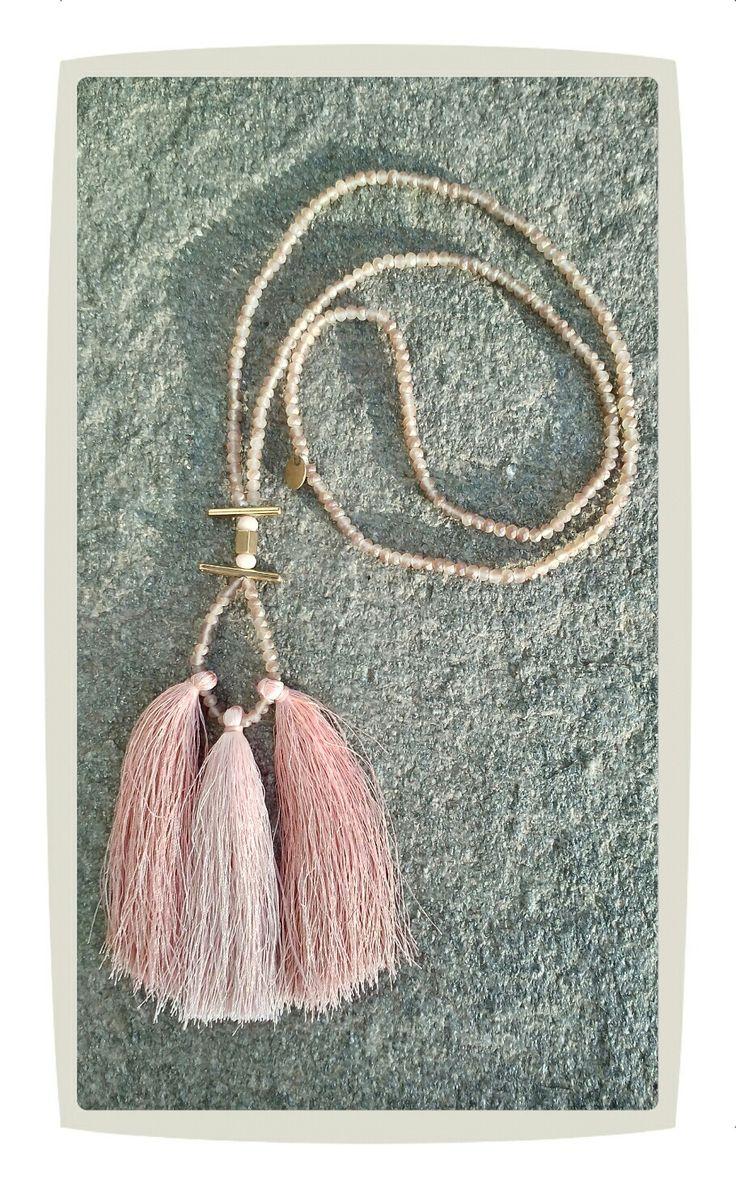 Long tassel necklace