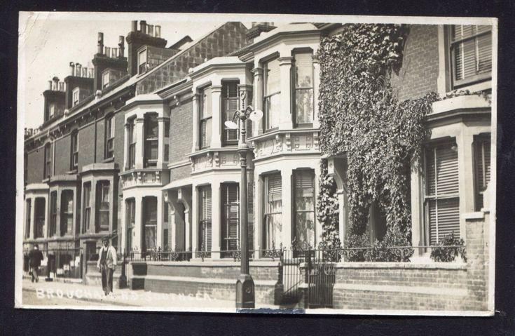 Portsmouth Brougham Rd Villas (RP 1906) Southsea