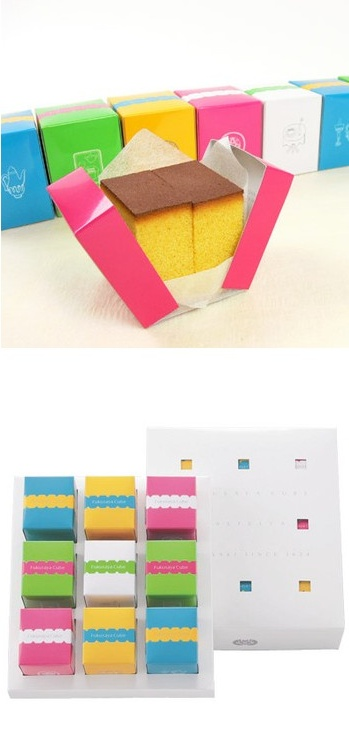 This is how they package sponge cake in Japan; way cooler than in America!