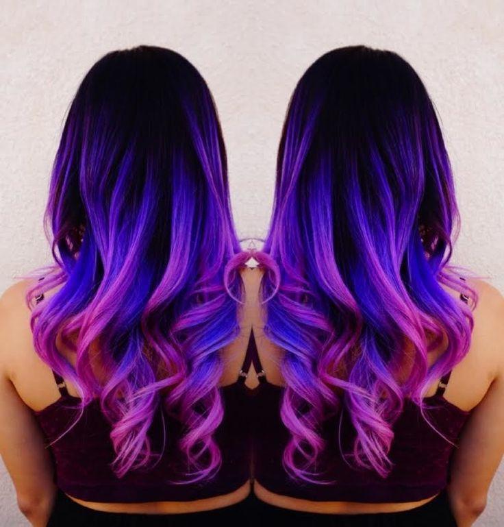 Mermaid hair Unicorn hair Rainbow hair by Toni Rose Larson @colordollz Pink hair Neon blue hair Purple hair Color Melt Hair Painting hotonbeauty.com