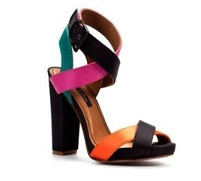 Zara Colour Block Satin Sandals Size 7